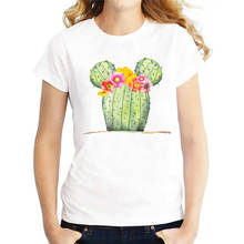 Cheap T Shirts Funny Mouse Cactus  Crew Neck Short-Sleeve Womens Shirt