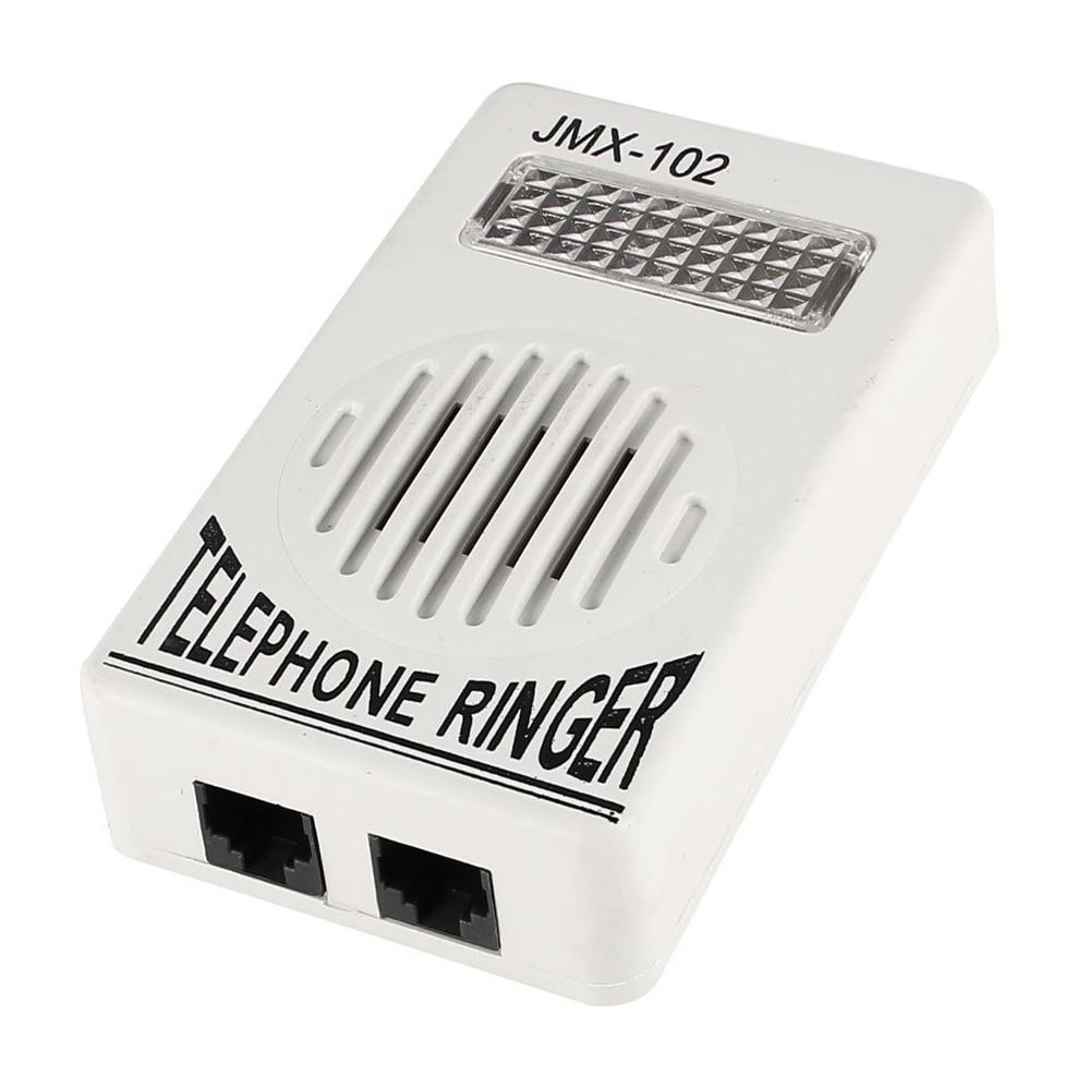 CES-Plastic Household Phone Ring Sound Amplifier RJ11 6P2C Ringer Gray