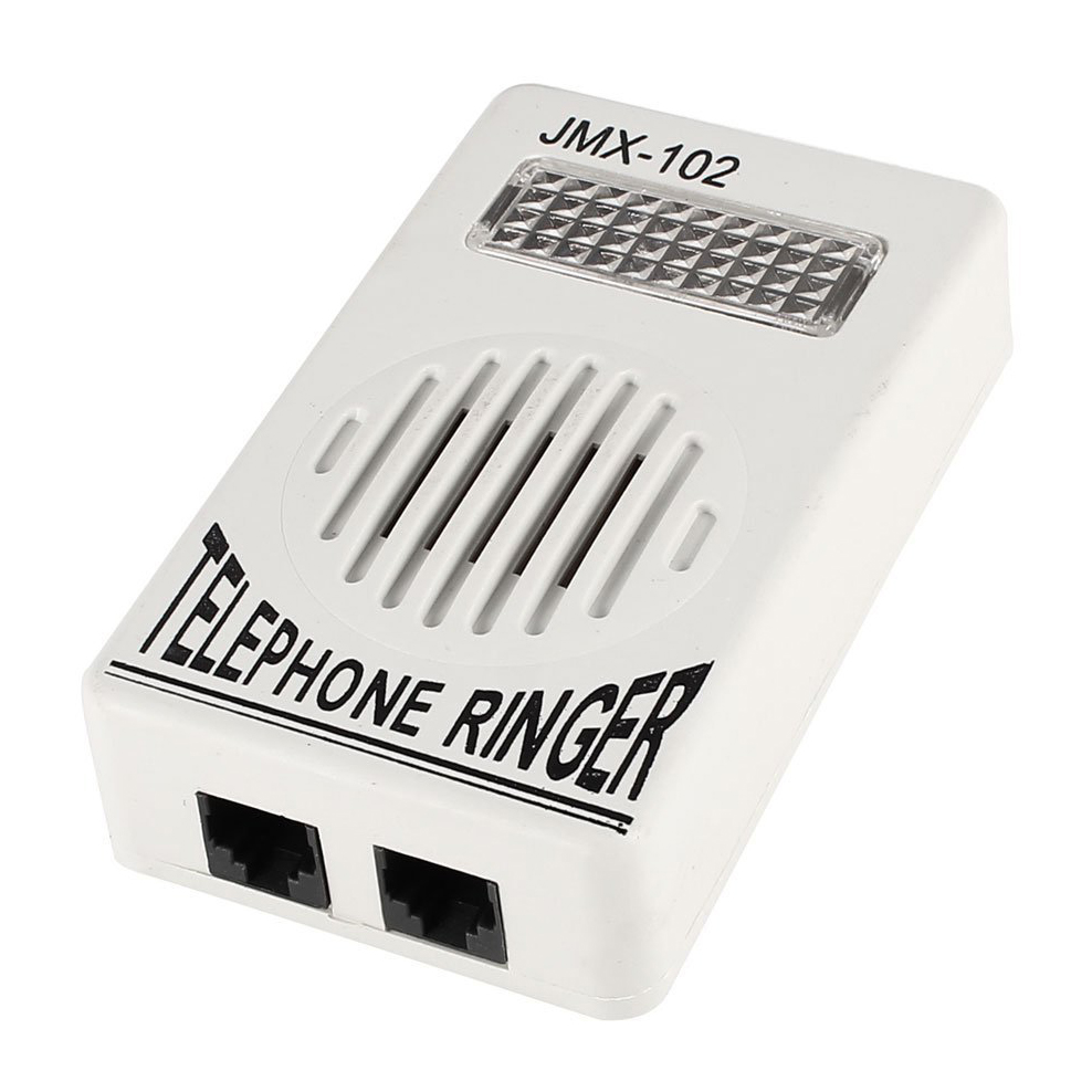 CES-Plastic Household Phone Ring Sound Amplifier <font><b>RJ11</b></font> 6P2C Ringer Gray