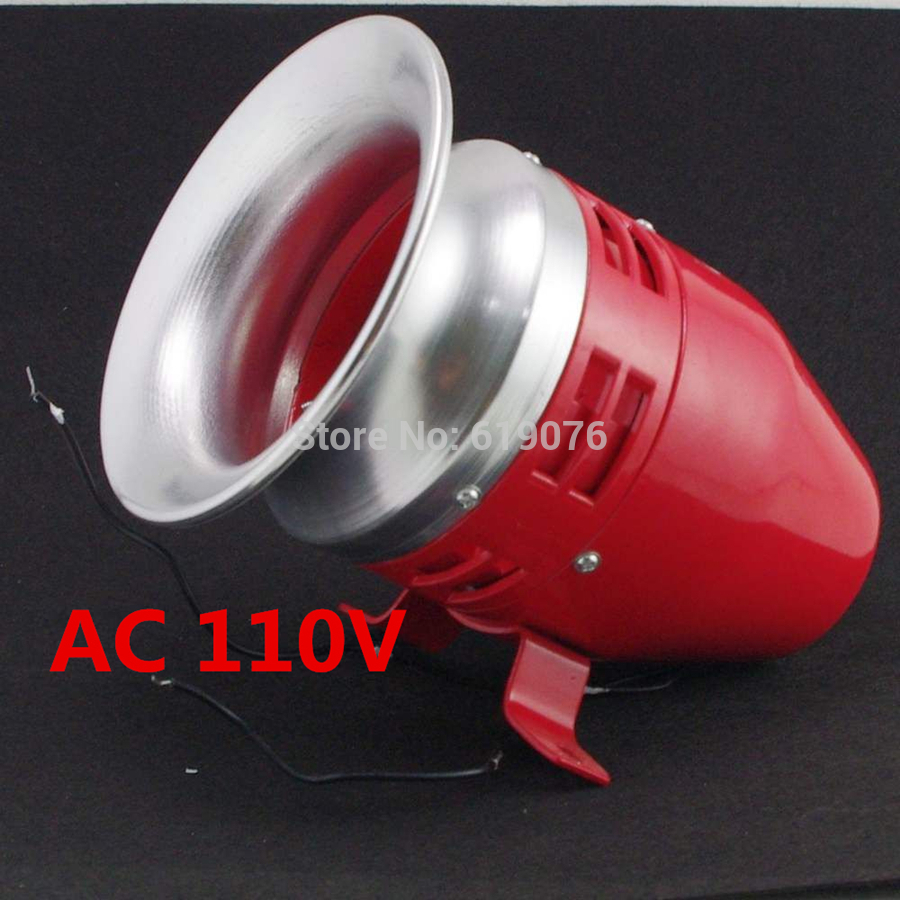 MS-390 AC 110V Mini Motor Driven Air Raid Siren Horn ms 490 ac 110v 220v 150db motor driven air raid siren metal horn double industry boat alarm