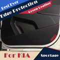 4 pçs/lote porta protetor proteção de borda lateral de couro artificial para KIA Sportage 2011 2012 2013 2014 2015 de de Mat