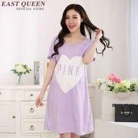 2018 summer home dress letter print nightgowns women nightwear round neck cotton sleepwear loose nightclothes NN0754 YQ