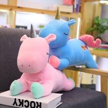 55cm Unicorn Plush Toy Stuffed Animal Horse baby play Unicorn Pillow Hand Warmer Cute Dolls for Kids Children Birthday Gifts недорого