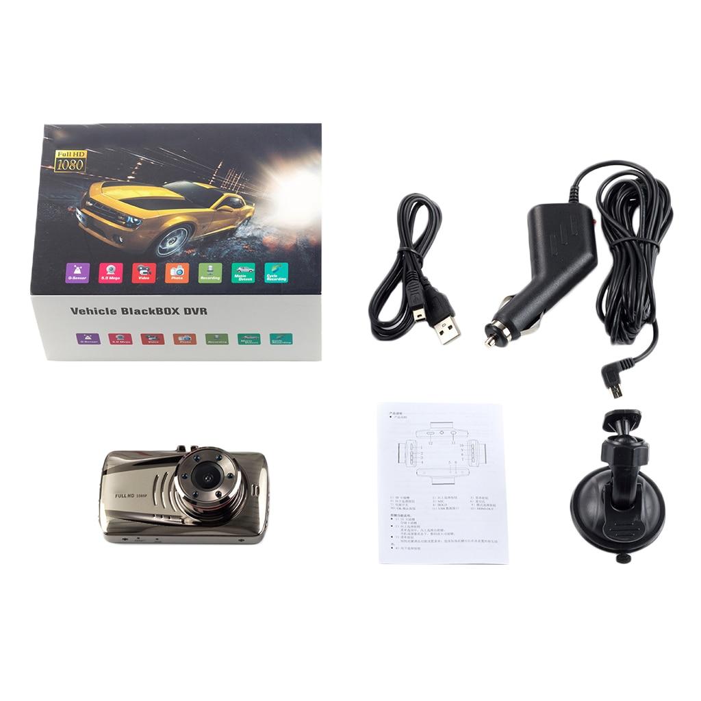 Car DVR Camera Full HD 1080P Car Cam G-sensor Video Recorder 140° Wide-Angle 5m Pixel Motion Detection Built-in G-Sensor