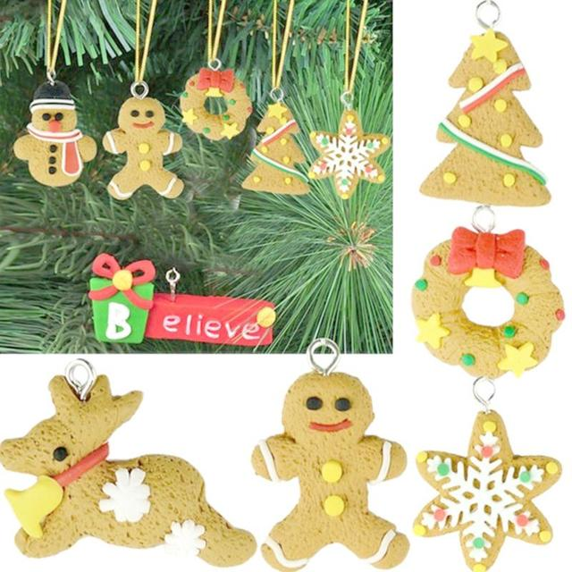 Us 1 69 6pcs Kids Gift Christmas Gift Classroom Ornaments Polymer Clay Pendants Party Decoration On Aliexpress Com Alibaba Group