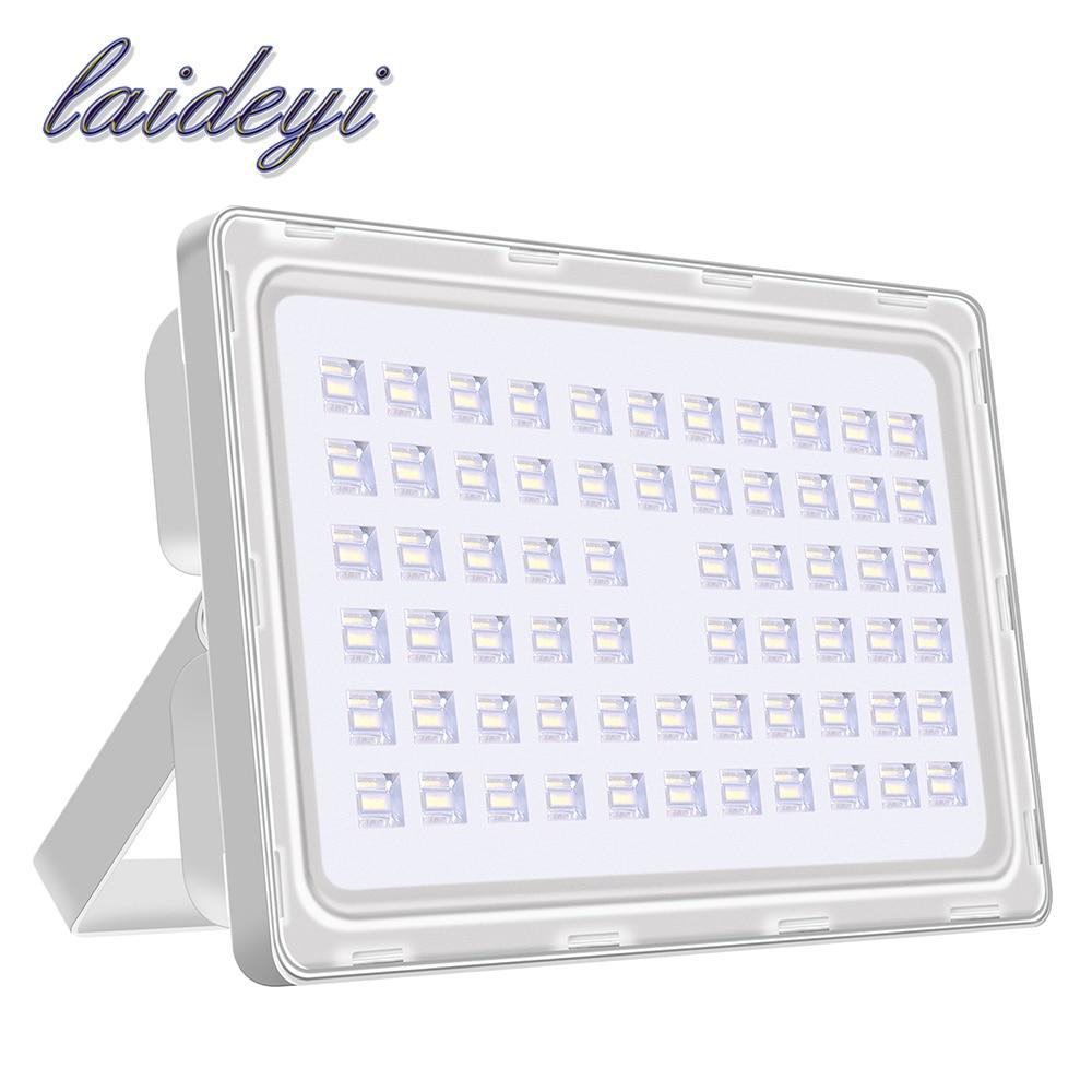 Ultra vékony 2db 200w-os LED-es világító lámpák kültéri nagy teljesítményű 200-240VAC SMD árvíz lámpa 18000lms vízálló IP65 kültéri világítás