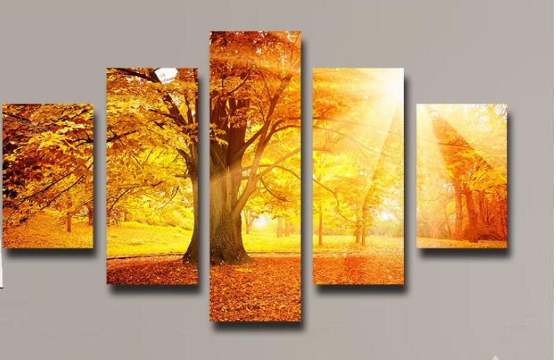 New arrival modular 5 Panel Wall Decor Canvas Painting Beautiful ...