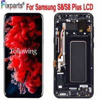 For Samsung S8 Lcd Display Touch Screen Digitizer Assembly For Samsung S8 Plus G950F G950U G950W8 G955F G955W Lcd +Frame