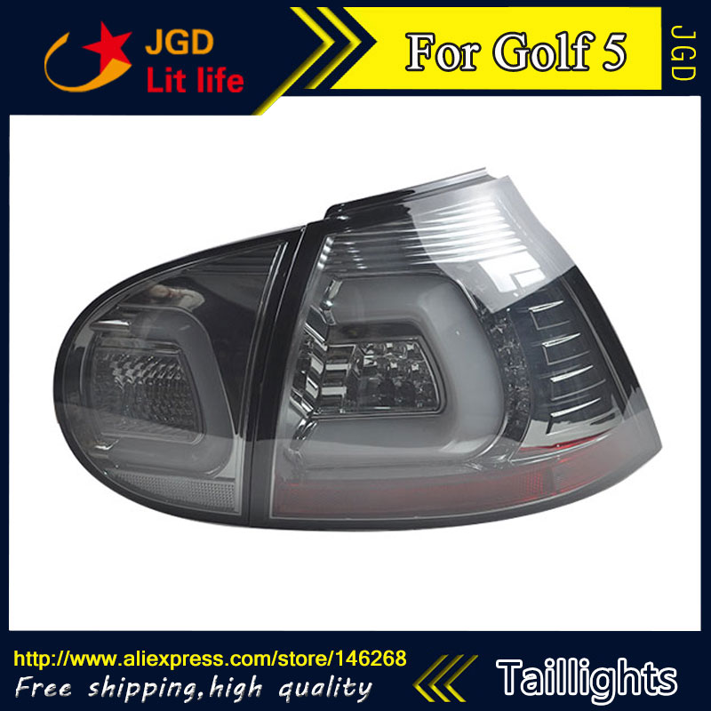 Car Styling tail lights for VW Golf 5 2003-2008 taillights LED Tail Lamp rear trunk lamp cover drl+signal+brake+reverse car styling tail lights for hyundai santa fe 2007 2013 taillights led tail lamp rear trunk lamp cover drl signal brake reverse