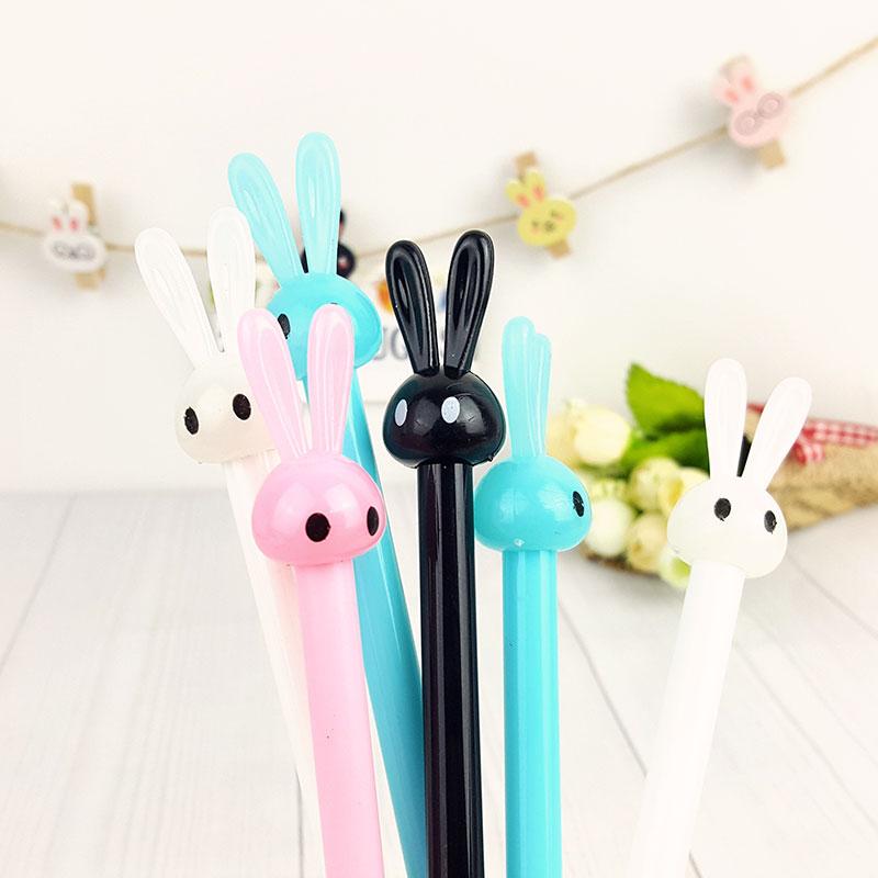 4pcs/lot Cute Cartoon neutral pen of rabbit jelly modelling stationery pen kawaii students school office supplies opening gifts