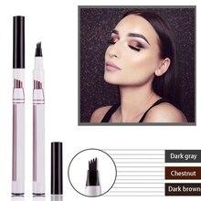 1Pcs Women Makeup Sketch Liquid Eyebrow Pencil Waterproof Brown Eye Brow Tattoo Dye Tint Pen Liner Long Lasting Eyebrow все цены