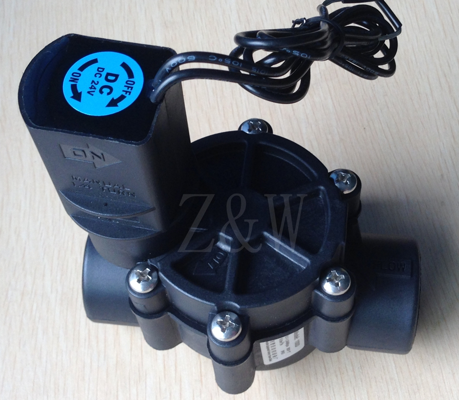 Garden irrigation automatic control Z&W 075D 3/4-Inch Female Pipe Threaded Auto Inline Sprinkler Valve DC12V