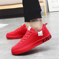 Dropshipping Women Vulcanized Shoes Black Red Sneakers Ladies Lace up Casual Breathable Walking Canvas Graffiti Flat XYZ013