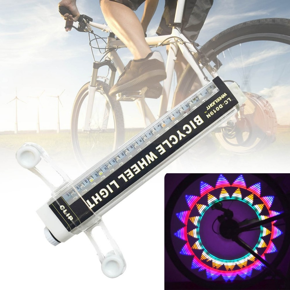 Unique 16LED 42 Change Pattern Cycling Bicycle Wheel Light Bike Tire Tyre Spoke Light Lamp Outdoor Bicycle Accessories Drop Ship