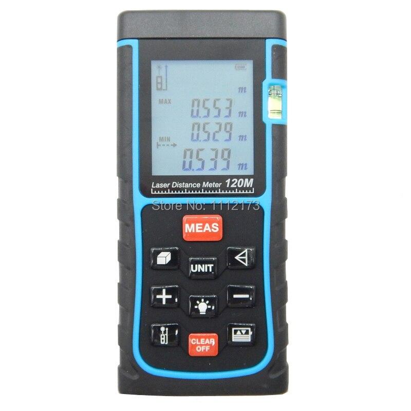 SNDWAY Digital Laser distance meter 120m 150m 400ft Bubble level Tape measure Area/volume tool Rangefinder Range finder  цены