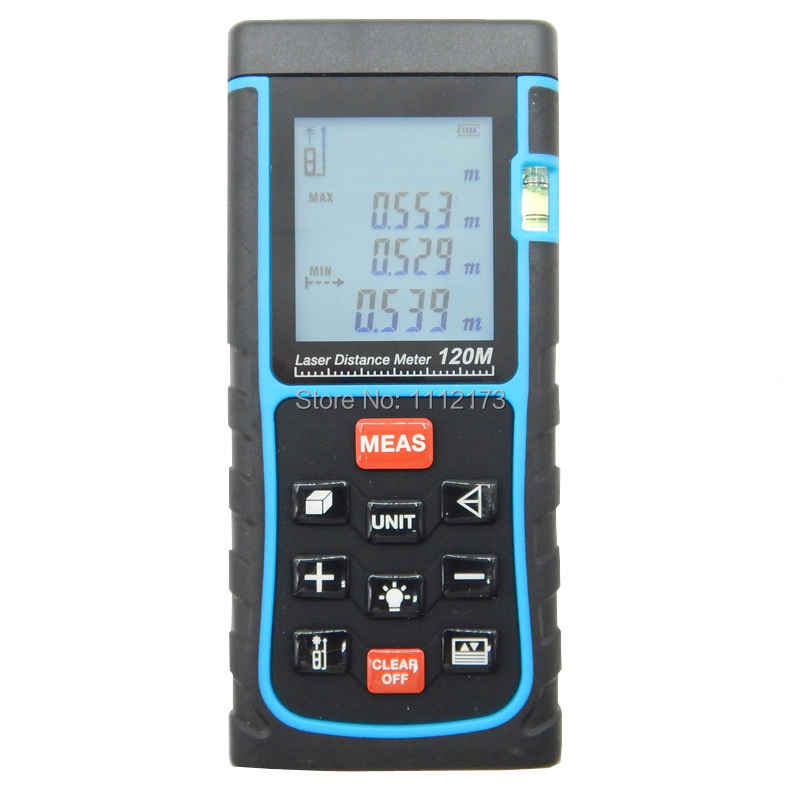 SNDWAY Digital Laser distance meter 120m 400ft Bubble level Tape measure Area/volume tool Rangefinder Range finder  цены