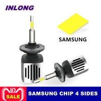 Inlong Car H7 H4 LED Headlight Bulbs 9005 9006 H11 H8 D2S D1S D3S H1 Led Lamp SAMSUNG CSP 60W 11200LM Headlamp Fog Lights 6500K
