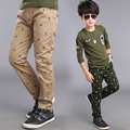 Retail children's clothing autumn and winter male child 100% cotton trousers child casual pants sports pants yarn card for boys