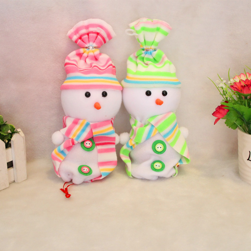 6pcslot 2510cm 2015 New Christmas gifts Eve apple candy bag