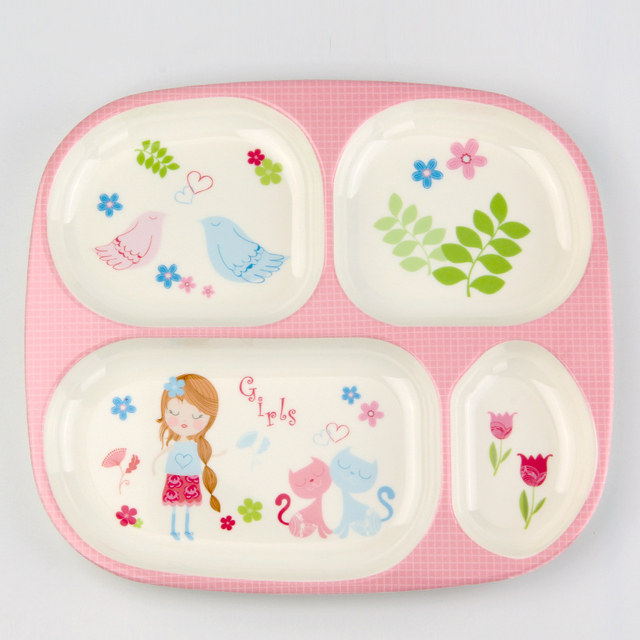 Hot Sale Melamine Baby Tableware Plate Children Creative Cartoon Baby Meal Tray Lovely Grid Baby Dinner  sc 1 st  AliExpress.com & Hot Sale Melamine Baby Tableware Plate Children Creative Cartoon ...