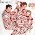Hot Family Christmas Pajamas Sets Flannel Family Matching ClothesPajamas Warm Family Look Sleepwear Outfits Suits YL327
