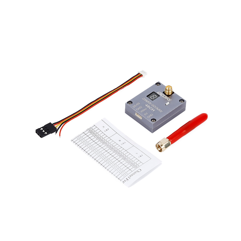 OCDAY 25 600mW 5 8G 48CH 2S 6S FPV Video Audio Transmitter RC SMA Connector