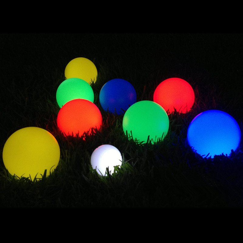 Remote Control Bright LED Garden Ball Lights Lamps Rechargeable Outdoor Lawn Lamp Waterproof Holiday Home Decoration Lighting in LED Lawn Lamps from Lights Lighting