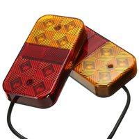1 Pair 8 LED Car Truck Lorry Tail Light Warning Lights Rear Lamps Waterproof Tailights Rear