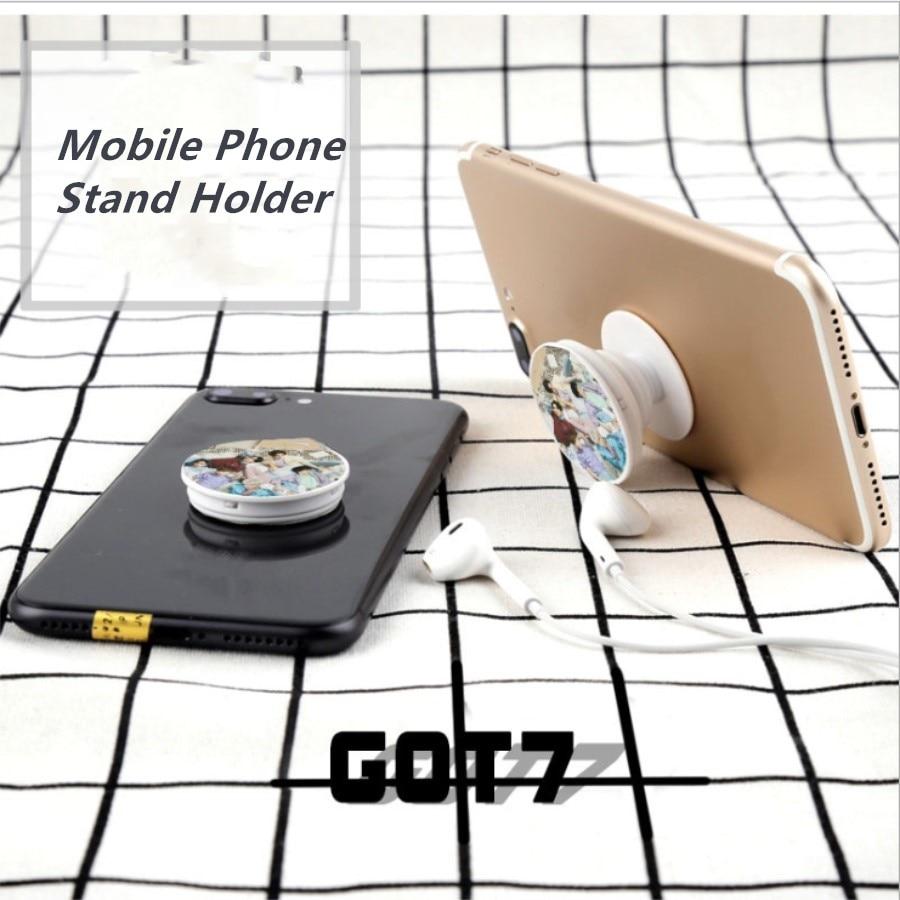 Kpop GOT7 Members Present: You Mobile Phone Stand Holder Jackson BamBam  Adjustable Finger Grip Universal