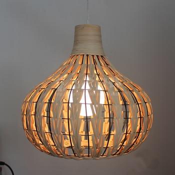 DZ�ペンダントランプキッチンダイニングルームのティーショップオリエンタルランプハンドニットレトロロフト産業竹ぶら下げ照明