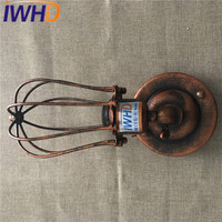 IWHD Idustrial Vintage Wall Light Fixtures Simple Iron Antique Wall Sconce Creative Retro Wall Lamp Home Lighting Lamparas