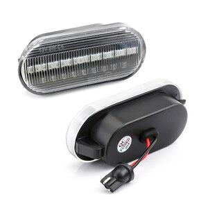 Image 4 - Flowing Water Car Side Marker Light Blinker Amber Smoke LED Dynamic Turn Signal Lamp for VW Bora Golf 3 4 Passat 3BG Polo SB6