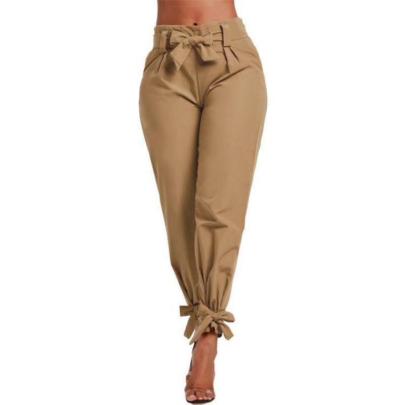 Ladies'casual Trousers Solid Color Waist-closing Slacks New Arrival 2020 Summer Autumn Womans Pants Fashionable Pants Plus Size