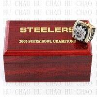 שנה 2005 פיטסבורג סטילרס בסופרבול אליפות טבעת מתנת אוהדי היינס וורד 10-13Size עם תיבת עץ באיכות גבוהה