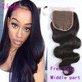 Brazilian Body Wave Closure 1 Piece 8-20 Inch 4x4 Lace Closure 8A Unprocessed Brazilian Virgin Hair Body Wave Dark Light Brown