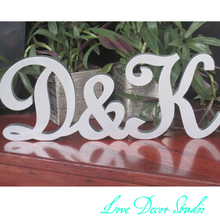 New Wedding Gift Letters Silver Wood  Custom letters   Sign Top Table Decoration tall6″  Thickness 0.59″by Love Decor Studio
