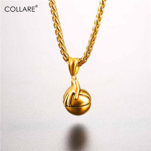 Collare Ball Pendant Stainless Steel Gold Color Hand Basketball Necklace Women Sports Gym Necklaces & Pendants Men Jewelry P807