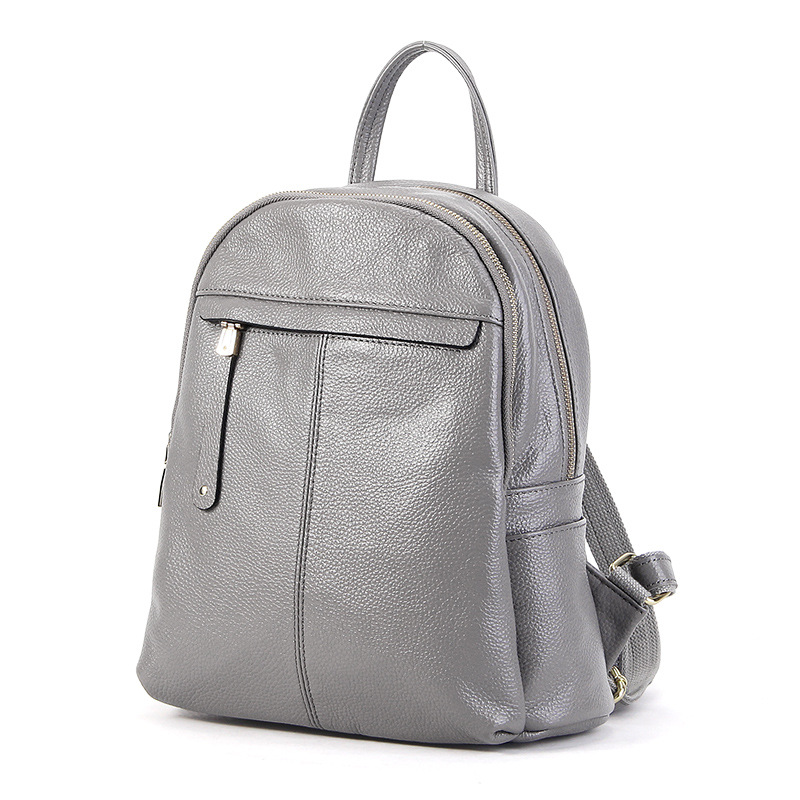 NEW Fashion Genuine Leather Backpack Women Bags Casual Style Backpack Girls School Bag High quality Zipper Backpack Travel bag 2017 new fashion women backpack pu leather girls school bag women casual style shoulder bag backpack for girls backpack