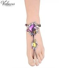Vedawas горячей продажи моды лодыжки браслет свадебные босиком пляж ног ювелирные изделия сексуальная многоцветный ножной браслет для женщин 1 шт. 1692