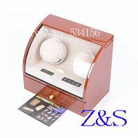 wooden watch winder with high gloss piano paint,automatic watch winder CNC automatic box on the watch chain shaking table