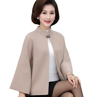 2018 New Fashion Spring Autumn Women Sweater Coat Middle aged Mother Knitted Cardigan Plus Size Elegant Cardigan Tops