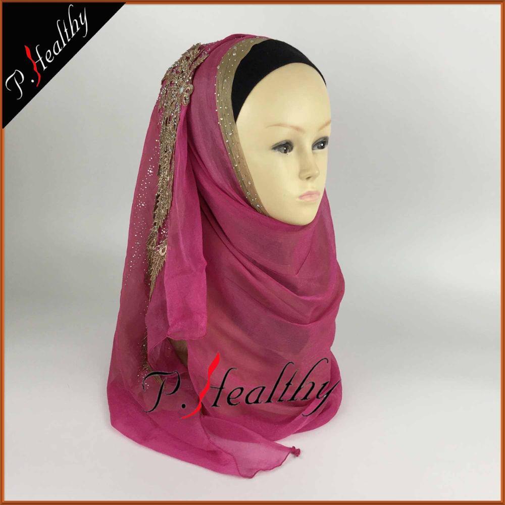 Свадебный хиджаб платок головной убор одежда модная свадебная шаль шарфы Муслин, можно выбрать Цвета, phw001 - Цвет: color8