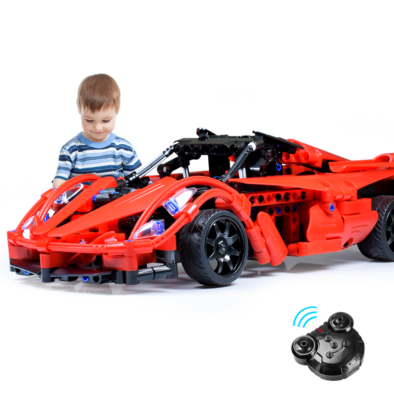 380pcs Technic Enlightenment Series Remote Control Sports Car Model Building Blocks Set RC Racing Car Compatible Legoed City380pcs Technic Enlightenment Series Remote Control Sports Car Model Building Blocks Set RC Racing Car Compatible Legoed City