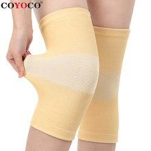1 pçs elasticidade fina joelheiras apoio protetor de joelho coyoco pele cor alívio evitar artrite esportes joelheiras guarda almofadas marrom