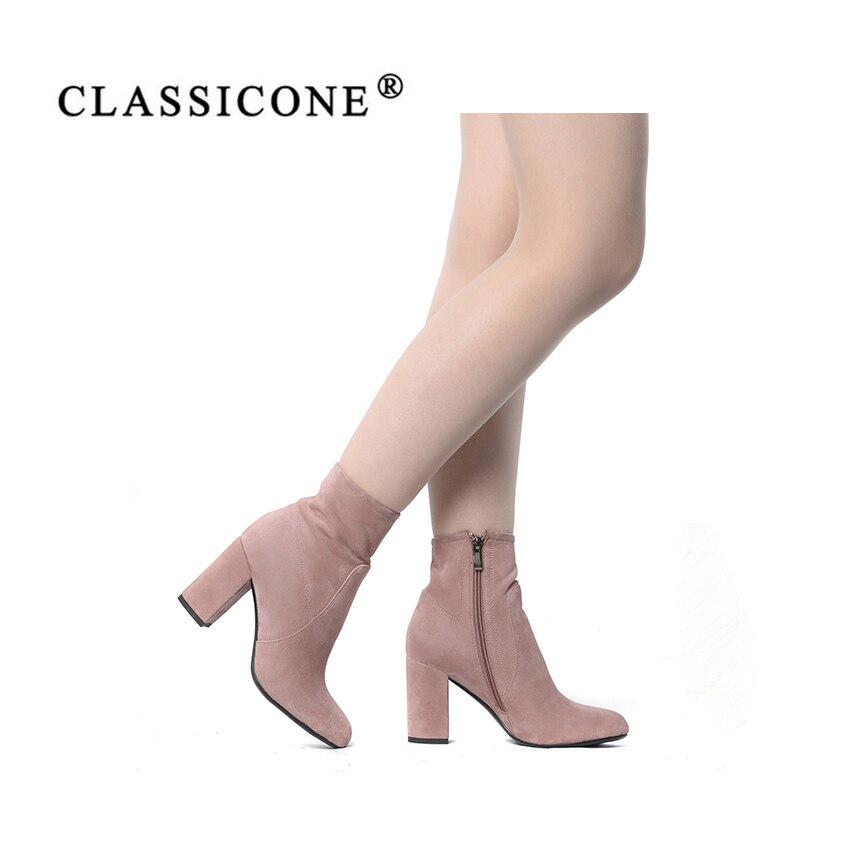 Mujer Genuino Sexy Botas Zapatos Tacón Moda rosado Mujeres De Estilo Marca Classicone Alto Primavera Cuero Otoño Beige Designersluxury Bombas qwRWtv
