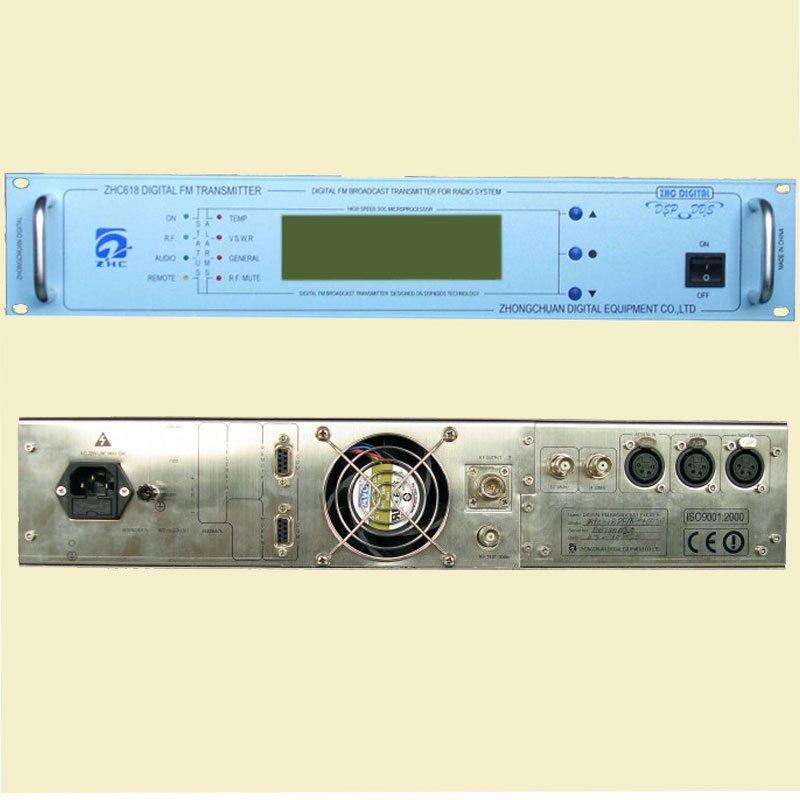 CZH618F 100W fm radio broadcast transmitter PLL stereo transmitter small fm  radio staion equipment 87-108MHz
