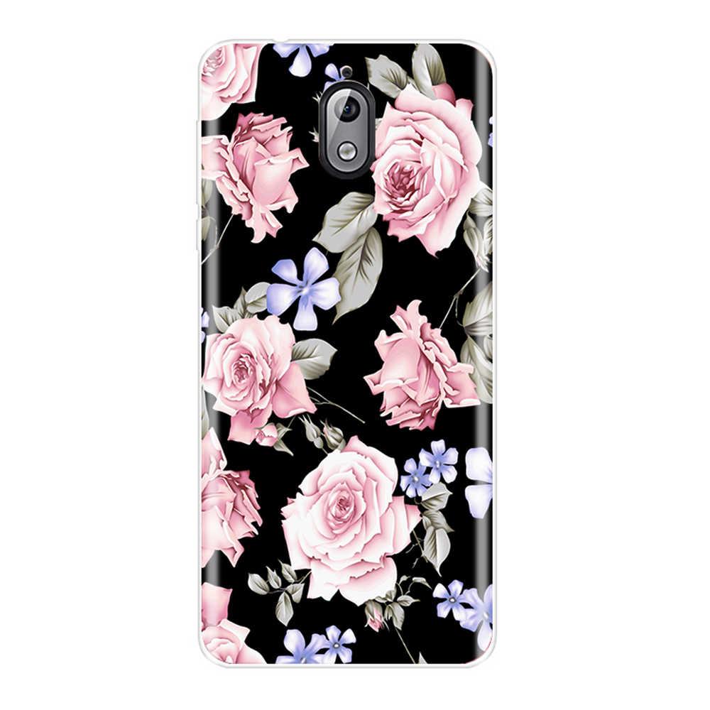 عودة غطاء لعلامة نوكيا 2.1 3.1 5.1 6.1 7.1 Plus لينة سيليكون أزهار لطيفة الأزهار جراب هاتف لنوكيا 7.1 6.1 5.1 3.1 2.1