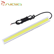 14 CM Cob high power lamps drl led daylight running light of day Ultra thin lights the car parking source 12 V