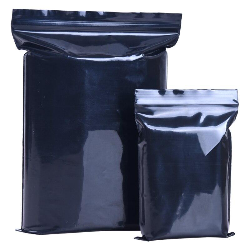 Black Plastic Ziplock Valve Bag Self Seal Reclosable Zip ...