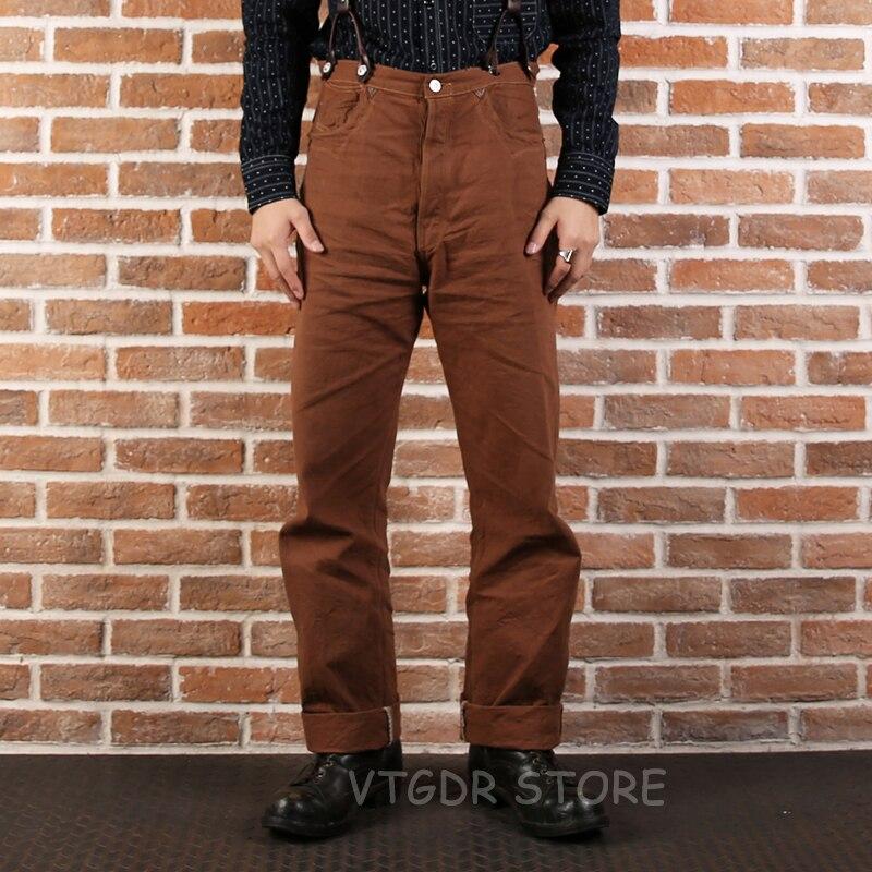2019 neue Bronson Ente Leinwand Hosen Vintage Nevada Gold Rush Western Hosen-in Overalls aus Herrenbekleidung bei  Gruppe 1
